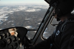 Bilder från helikoptern under släpptestet/Pictures from the heli during the droptest