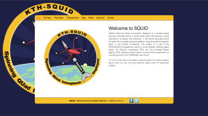 The new improved look of the SQUID homepage