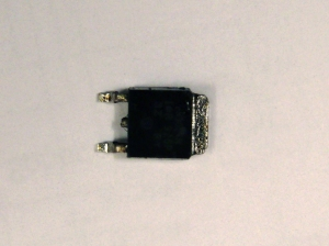 Burned MOSFET